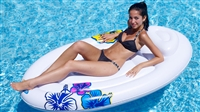 Kerlis Lounger With Pillow And Hawaiian Design