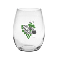 10-1919 Stemless White Wine Glass 15 oz.