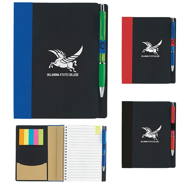"16-693 5"" x 7"" ECO Notebook with Flags"