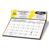 17-109 4-Color Digital Desk Calendar