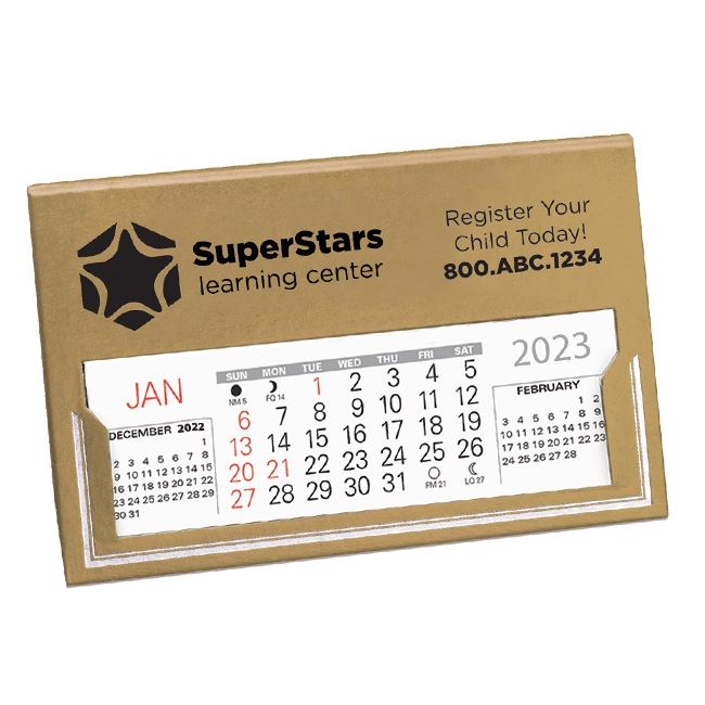 17-21G Mayor Desk Calendar (Gold)