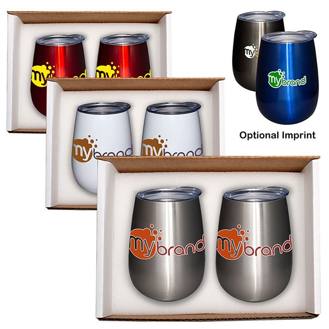 32-239 Duo Vacuum Stemless Wine Tumbler Gift Set