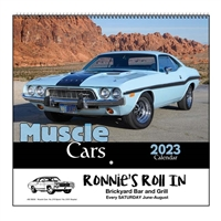 35-870 Muscle Cars Wall Calendar