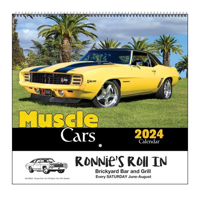 35-870 Muscle Cars Wall Calendar