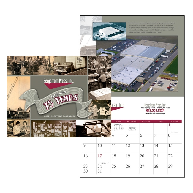 360 Staple Bound Custom Wall Calendar