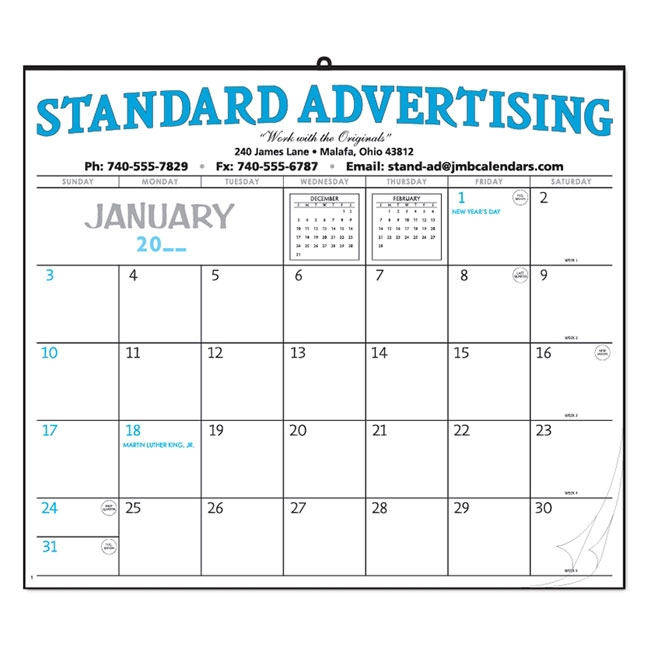 38-03 12-Sheet Hanging Wall Calendar