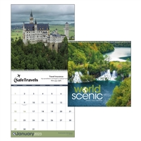 41-01 World Scenic Executive Wall Calendar