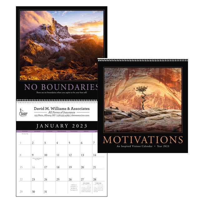 41-02 Motivations Executive Wall Calendar
