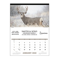 41-07 North American Wildlife Executive Wall Calendar