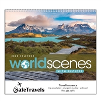 41-34 World Scenes with Recipes Wall Calendar