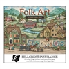 41-70 Folk Art Wall Calendar