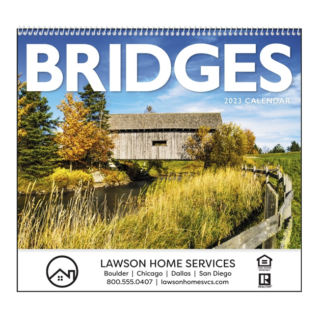 41-718 Bridges Wall Calendar