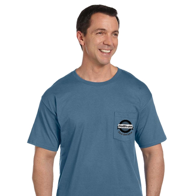 5190P Hanes Adult 6.1oz Beefy-T with Pocket