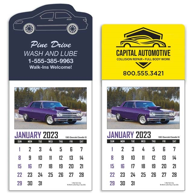 61-324 Customizable Stick-Up Muscle Car Calendar
