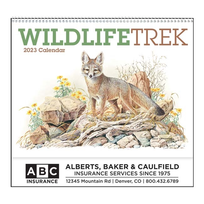 61-803 Wildlife Trek Wall Calendar