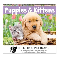 61-807 Puppies & Kittens Wall Calendar