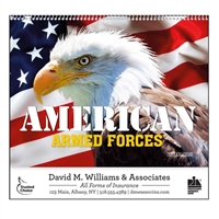 61-812 American Armed Forces Wall Calendar