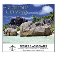 61-825 Glorious Getaways Wall Calendar