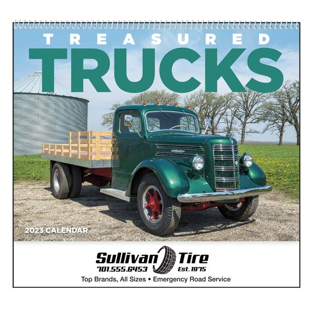 61-837 Treasured Trucks Wall Calendar