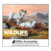 61-838 Wildlife Canvas Wall Calendar