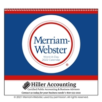 61-840 Word-A-Day by Merriam Webster Wall Calendar
