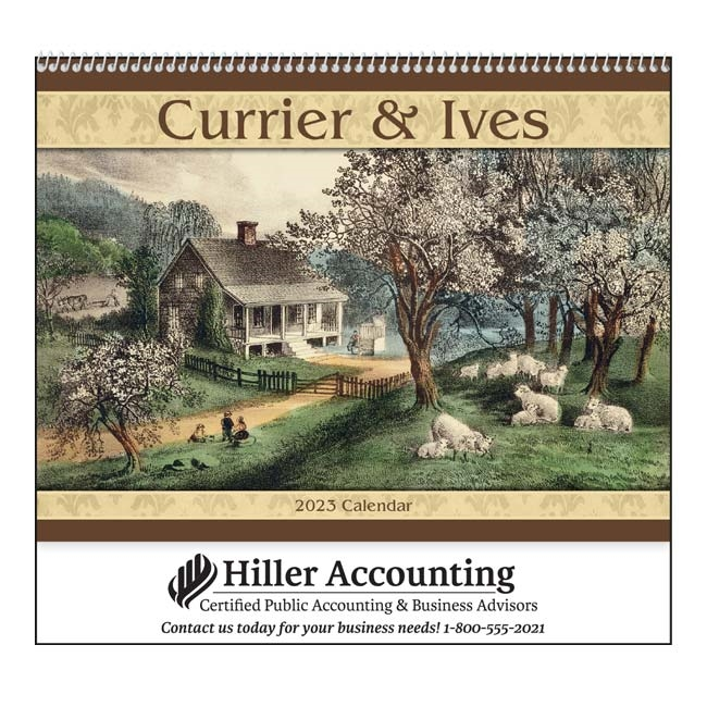 61-841 Currier & Ives Wall Calendar