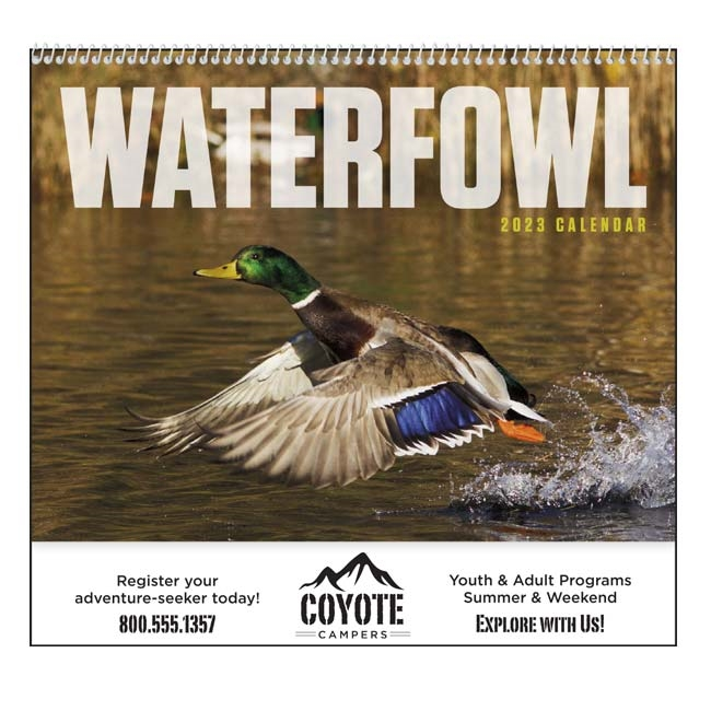 61-848 Waterfowl Wall Calendar