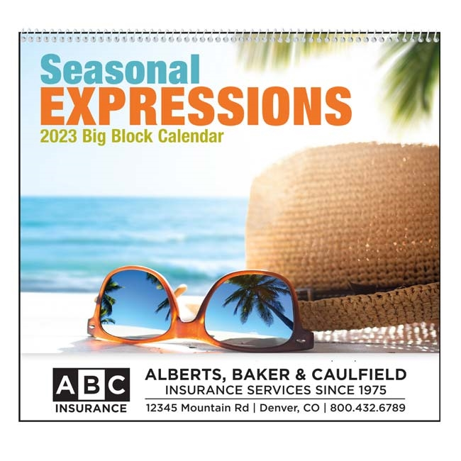 61-850 Seasonal Expressions Wall Calendar