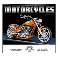 61-856 Motorcycles Wall Calendar