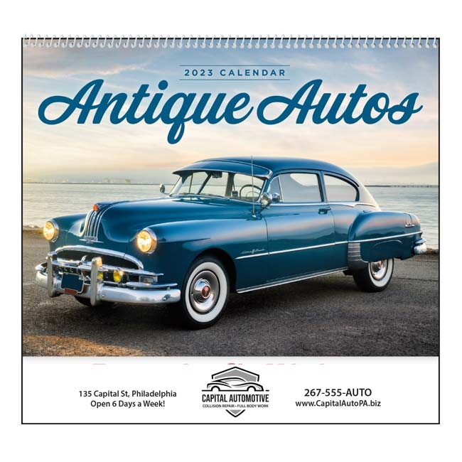61-857 Antique Autos Wall Calendar