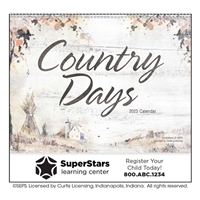 61-866 Country Days Wall Calendar