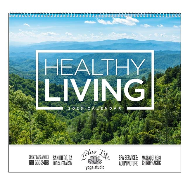 61-873 Healthy Living Wall Calendar