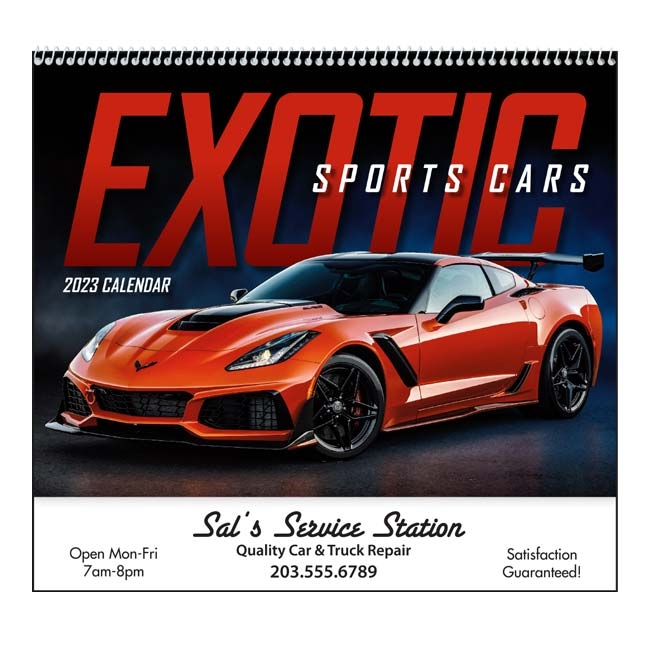 61-881 Exotic Sports Cars Wall Calendar