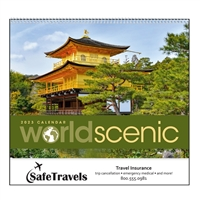 74-12 World Scenic Wall Calendar