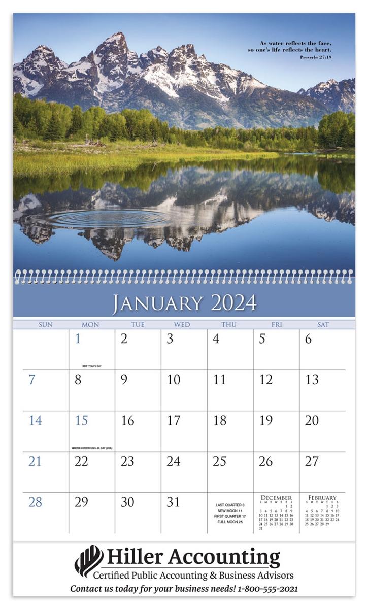 World Calendar.74 53 World Of Inspiration Wall Calendar