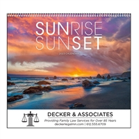 74-75 Sunrise Sunset Wall Calendar