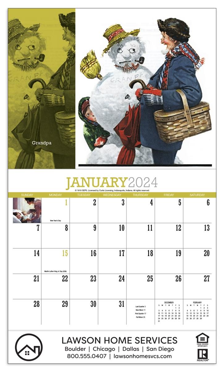 World Calendar.81 802 Norman Rockwell S Wonderful World Wall Calendar