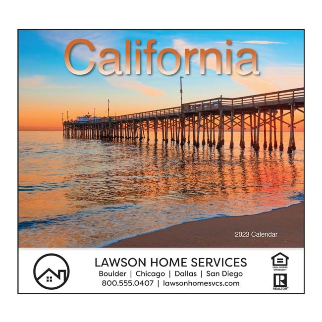 81-811 California Wall Calendar