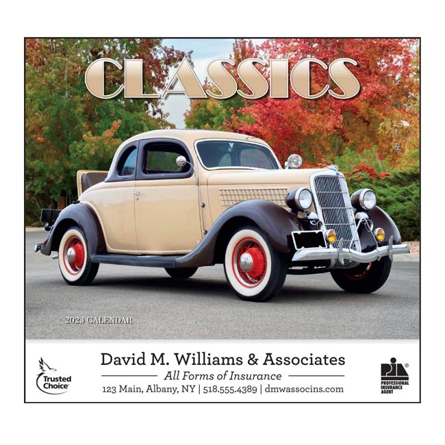 81-820 Automotive Classics Wall Calendar