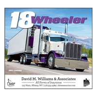 81-823 18-Wheeler Wall Calendar