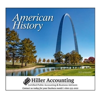 81-839 Great Symbols of American History Wall Calendar