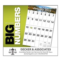 81-841 Big Numbers Wall Calendar