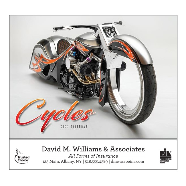 81-865 Cycles Wall Calendar