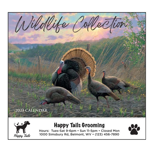 81-884 Wildlife Collection Wall Calendar