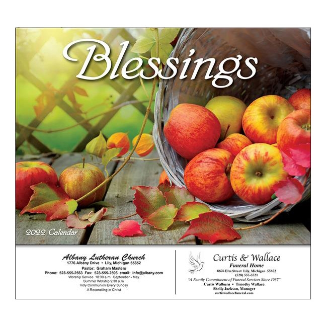 81-886 Blessings Wall Calendar