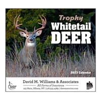 81-896 Trophy Whitetail Deer Wall Calendar