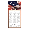81-955 American Flag Calendar Greeting Card