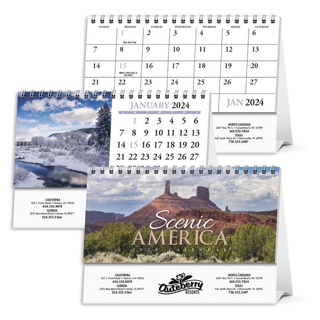 81-982 Scenic America Calendar Desk Tent  sc 1 st  New England Calendar & 982 Scenic America Calendar Desk Tent