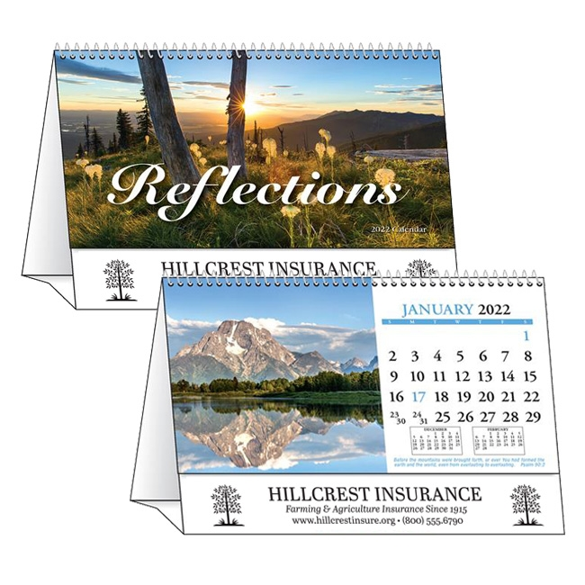 81-989 Reflections Desk Calendar Tent
