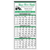 89-62 3-Month Display Calendar